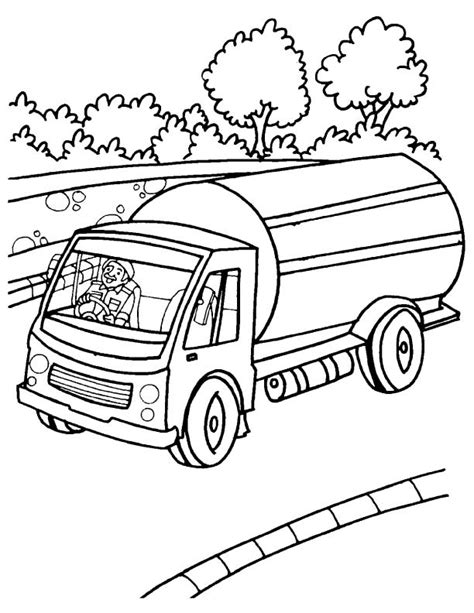 oil truck coloring page milk tank truck coloring page download free milk tank