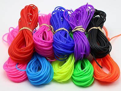 100 Meter 2mm Soft Hollow Rubber Tubing Jewelry Cord Cover Memory Wire 10 Color in Jewelry