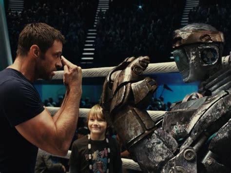 film robot ze stali hugh jackman na ringu z robotami quot giganci ze stali quot w
