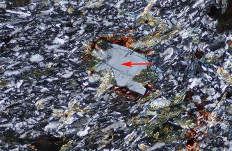 nepheline in thin section phonolite from the boca de tauce