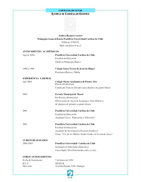 Resume En Español by Curriculum Vitae En Espaol Para Llenar 2015 Malawi Research