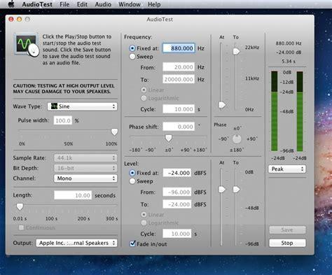 audio test audiotest for mac os x generates audio test signals