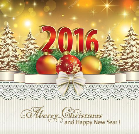 happy new year 2016 and merry christmas images merry christmas and happy new year 2016 stock vector