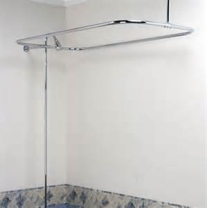 bathtub shaped shower curtain rod 304 stainless steel