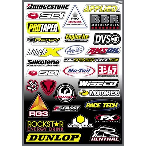 Yamaha Sponsoren Aufkleber by Sponsor Sticker Kits Yamaha Sports Plaza