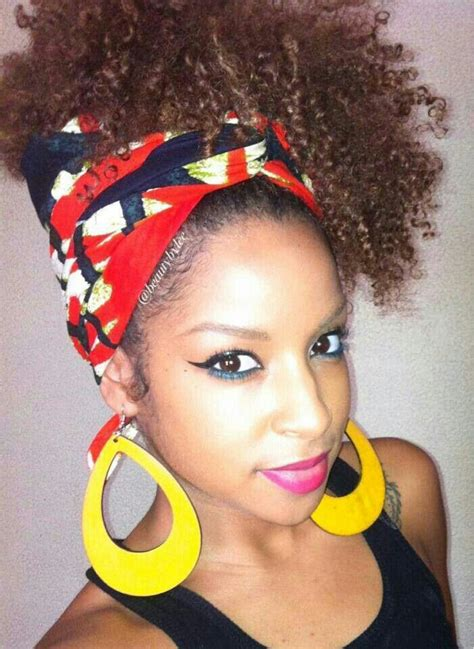 afro hairstyles with scarves 93 best images about afro puffs on pinterest flat twist