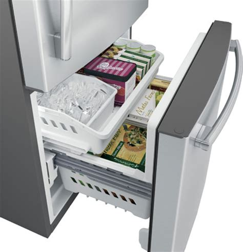 Bottom Drawer Freezer by Sleek Bottom Freezer Refrigerators Ge Appliances