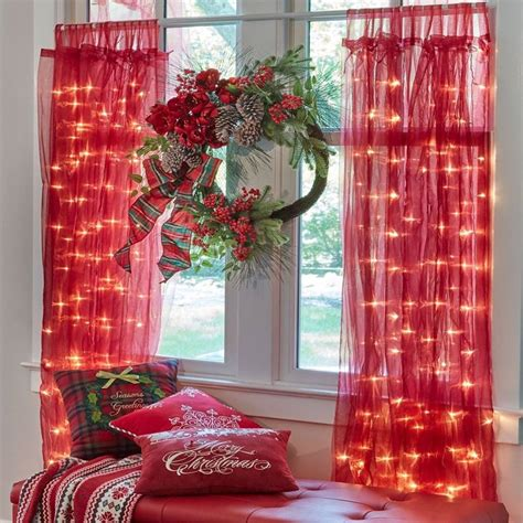 christmas curtain panels 50 fresh christmas window decoration ideas that are