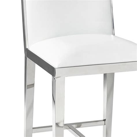 white counter chairs emario white leatherette counter chair xcella