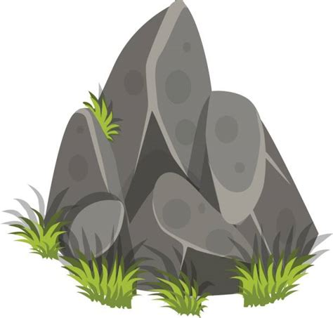 rock clip grass clipart rock pencil and in color grass clipart rock