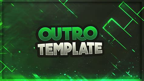 2d Outro Template Photoshop By Phoenix Youtube Outros Templates