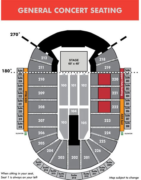 seating maps resch center