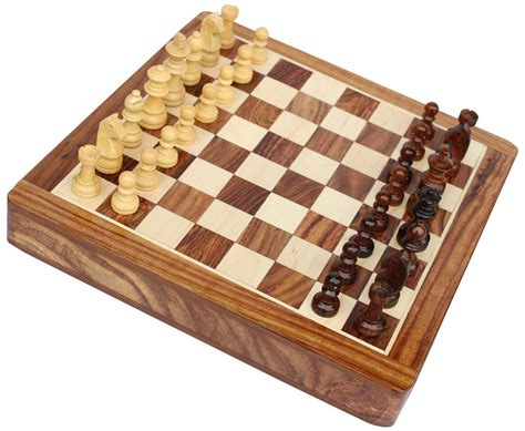 Handmade Chess Board - smart handmade 7x7 rosewood staunton travel chess