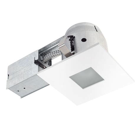 Globe Electric 4 In Square Shower White Matte Recessed