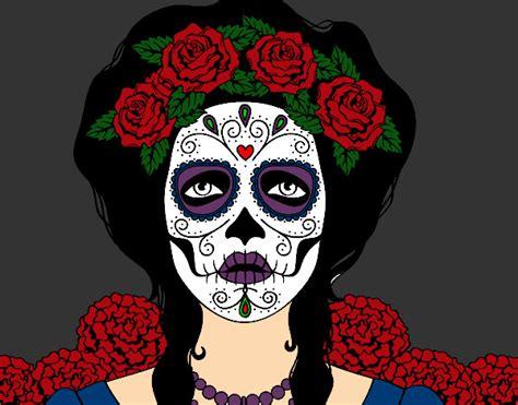imagenes de calaveras pintadas dibujo de mujer calavera mexicana pintado por rayark en