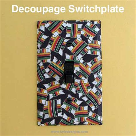 Decoupage Light Switch Covers - diy decoupage switch plates step by step