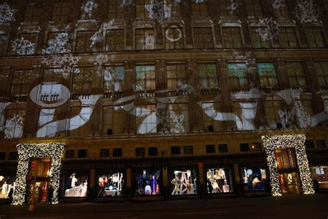 saks fifth avenue light show projection my modern met
