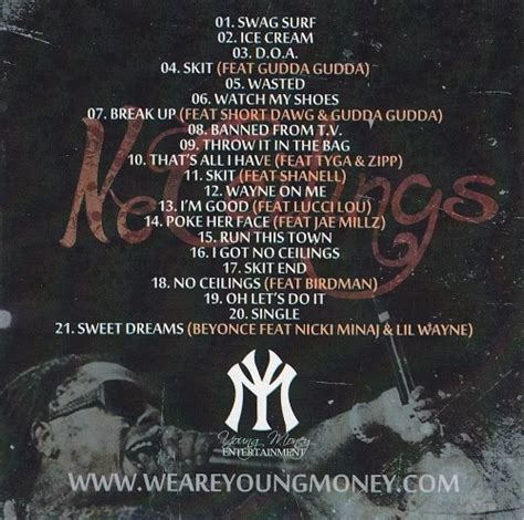 No Ceilings Lil Wayne by Lil Wayne No Ceilings Mixtape Alternate Covers