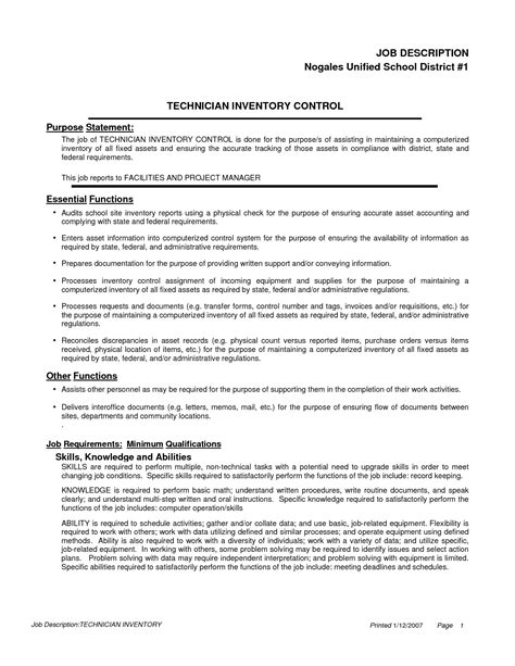best photos of template job description for controller