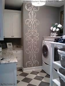 using metallic paint for accent walls modern masters