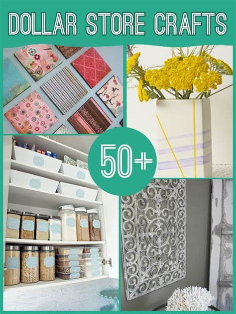 1 dollar supplies 60 projects to make with dollar store supplies diy and