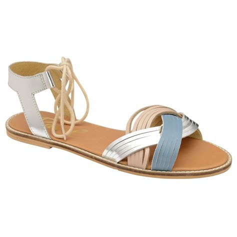 Flat Shoes Pink Silver buy ravel navarro flat sandals in pink