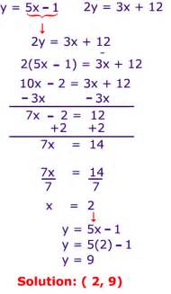 cbhsmath solving systems of equations substitution