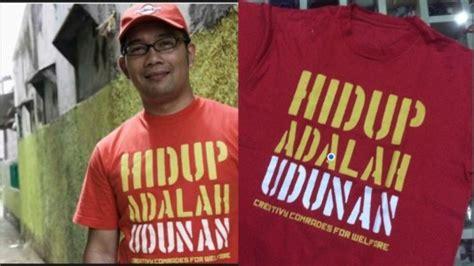 Kaos Kang Emil Rabu ini kaos ridwan kamil yang dilelang buat biayai bobotoh republika