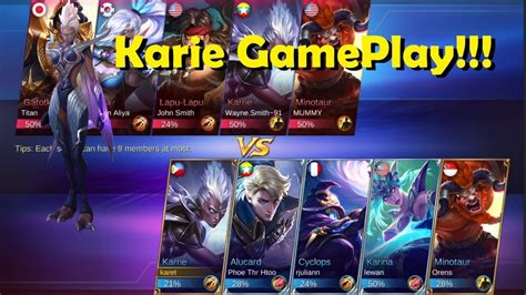 karie mobile legend mobile legend karie gameplay build