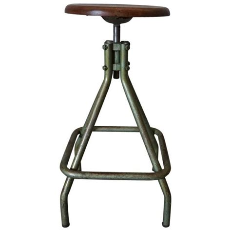 french industrial bar stools french vintage industrial adjustable stool 1950s for sale