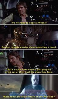 What About Meme - don t attack a wookie what about the droid attack on the