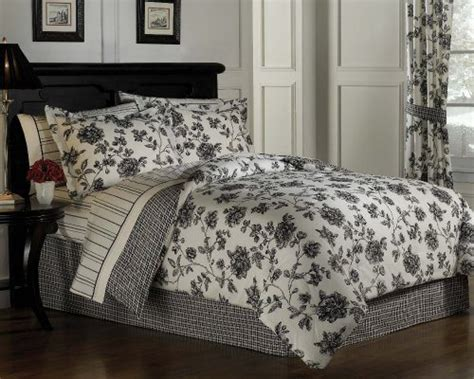 black and white floral bedding toile bedding