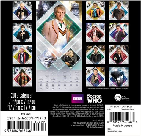 elephants mini wall calendar 2018 16 month calendar books doctor who tv series 16 month 2018 mini wall calendar