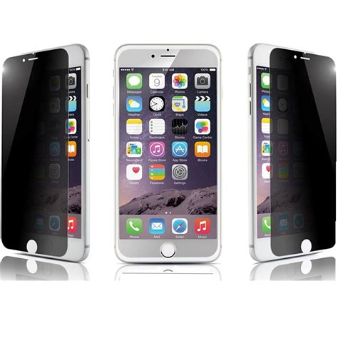 electroplanting privacy tempered glass screen protector for iphone 6 plus 5s 5c ebay