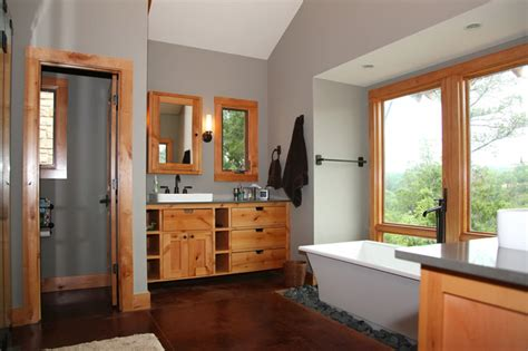 Luxe Home Design Inc modern rustic master bath