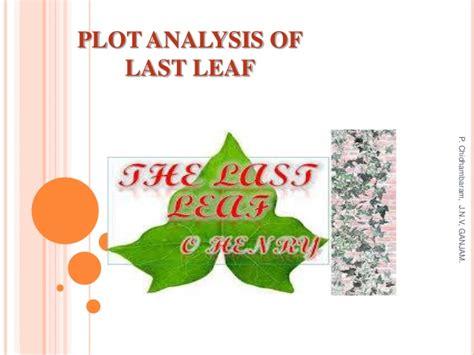the last leaf analysisoscar education plot analysis of last leaf