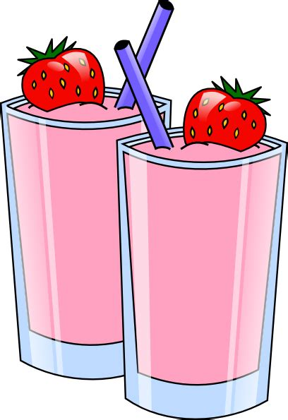 drinks clipart strawberry smoothie drink beverage cups clip at clker