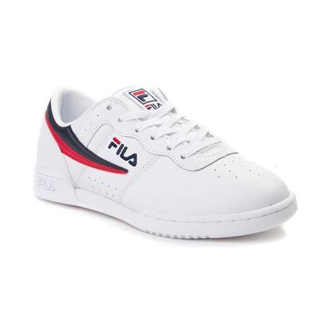 Fila Skate Shoes womens fila original fitness athletic shoe whitenavyred