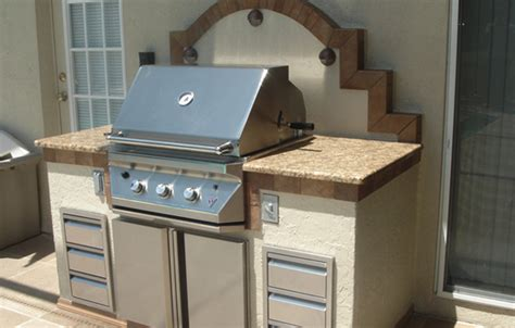 outdoor kitchen backsplash photos outdoor grill backsplash light up your grill with this