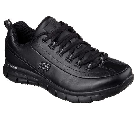 skechers comfort construction buy skechers work relaxed fit sure track trickel work