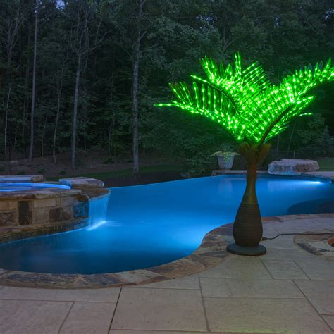 Palm Tree Lights Outdoor Lighted Palm Trees 7 5 Led Bottle Palm Tree Green