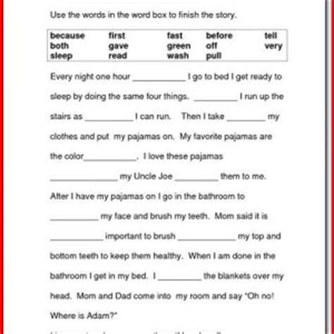 Reading Comprehension Worksheets For 4th Grade Choice by Reading Worksheets For 1st Grade Project Edu