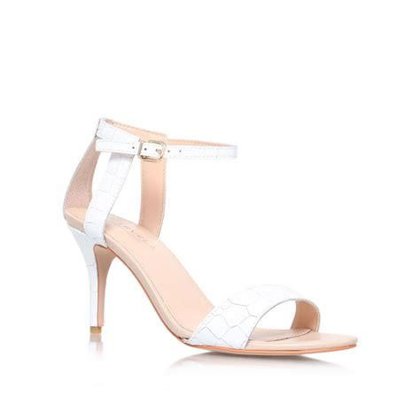 mid heel white sandals carvela kurt geiger kollude mid heel sandals in white lyst