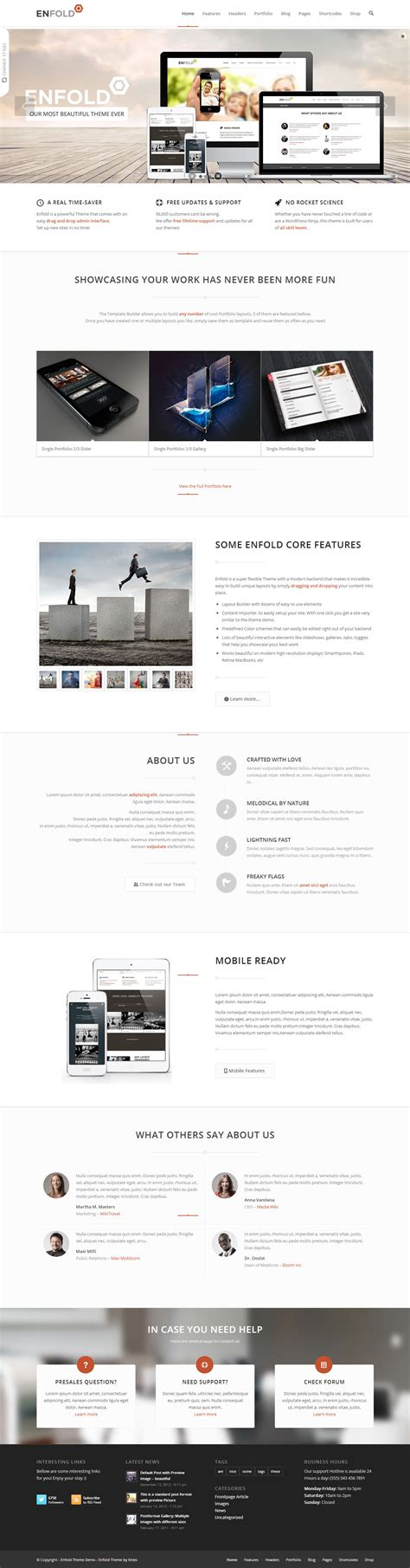enfold theme performance enfold premium responsive wordpress theme free demo
