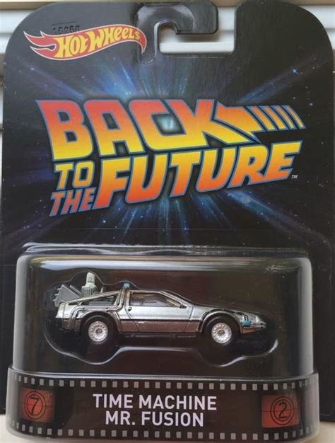 Hotwheels 1 64 Retro Back To The Future Time Machine Hover Mode 1 models wheels retro time machine mr fusion back