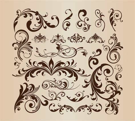 floral design elements vector floral design decorative elements vector set free vector