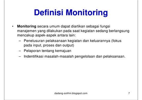 Evaluasi Program Pendidikan Dan Kepelatatihan Ditinjau Dari Aspek konsep monitoring dan evaluasi