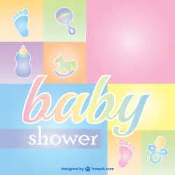 baby shower greeting card vector free