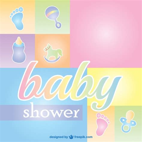 baby shower cards baby shower greeting card vector free