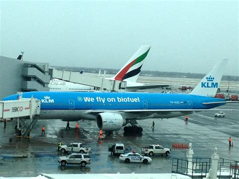 Mobil City 777 4 by Klm Begins Biofuel Flights Between New York Amsterdam
